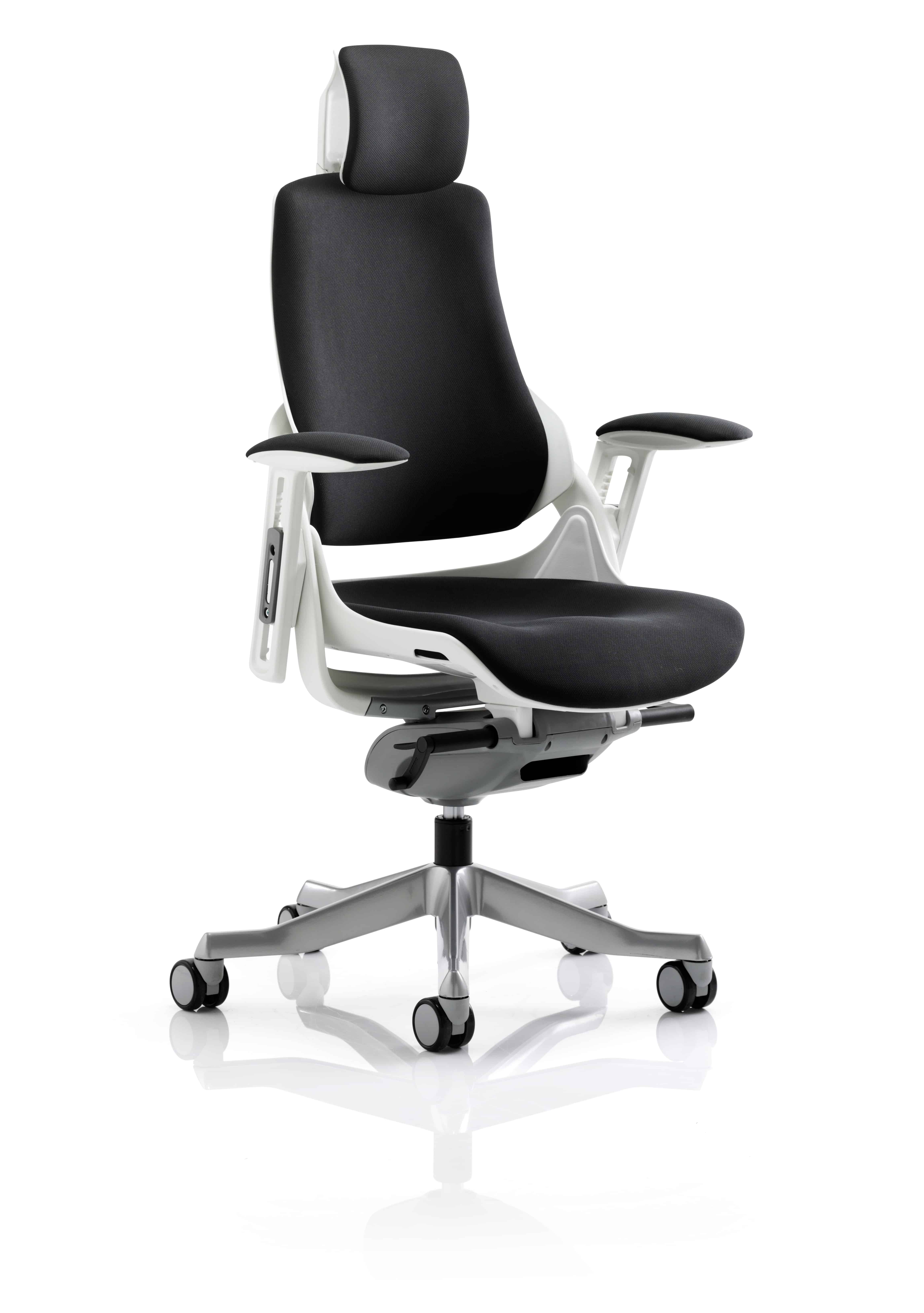 Picture of: Zodiac Executive Black Fabric Office Chair Unique Postural Solutions